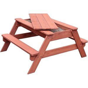 BellaLuni Zestaw dziecięcy stolik z ławeczkami i zamykanym miejscem na piasek
