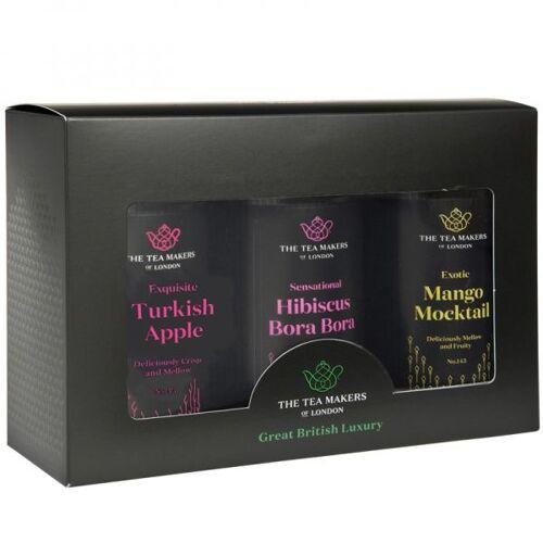 THE TEA MAKERS LTD Zestaw owocowych herbat The Tea Makers Classic Fruit Tea Trio Gift Set - 2x125g + 1x100g
