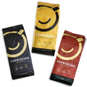 """Przyjaciele Kawy Zestaw kawy ziarnistej """"Caprissimo Trio Strong"""", 3 kg"""