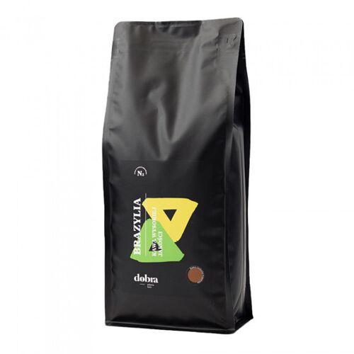 """Dobra palarnia kawy Kawa ziarnista Dobra palarnia kawy """"Brazylia"""" ciemno palona, 1 kg"""