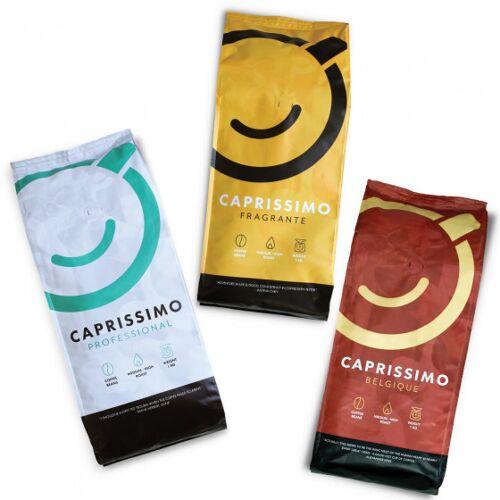 """Przyjaciele Kawy Zestaw kawy ziarnistej """"Caprissimo Trio"""", 3 kg"""