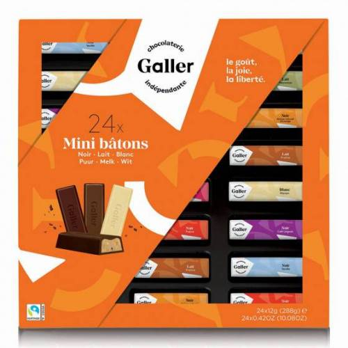 "Galler Zestaw batoników czekoladowych Galler ""Mini Batons Assortment"", 24 szt."