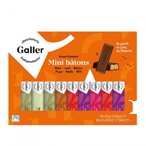 "Galler Zestaw batoników czekoladowych Galler ""Mini Batons Assortment"", 18 szt."