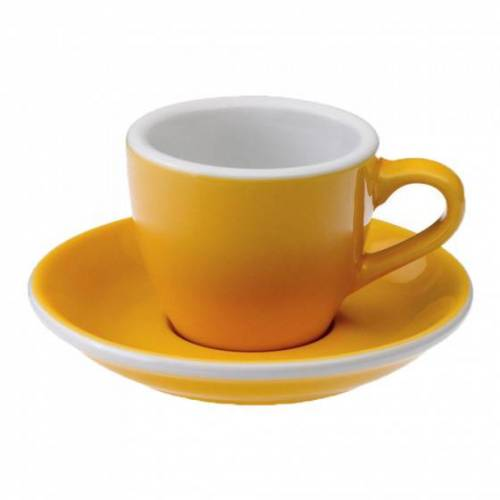 """Loveramics Filiżanka ze spodkiem espresso Loveramics """"Egg Yellow"""", 80 ml"""