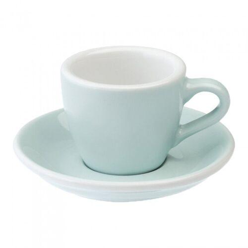 "Loveramics Filiżanka ze spodkiem espresso Loveramics ""Egg River Blue"", 80 ml"