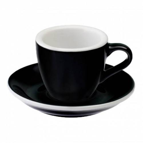"Loveramics Filiżanka ze spodkiem espresso Loveramics ""Egg Black"", 80 ml"