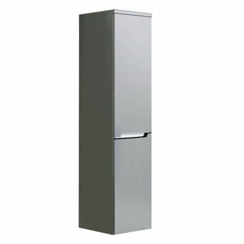 Oristo Silver szafka boczna wysoka lewa 35x144x35cm szary mat OR33-SB2D-35-4-L