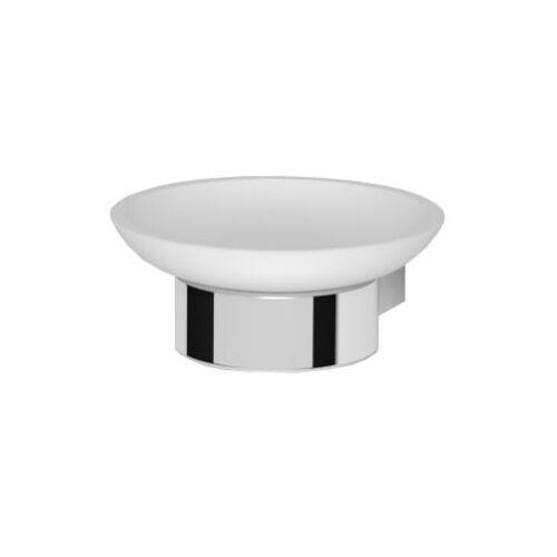 Oltens Vernal mydelniczka z uchwytem biała ceramika/chrom 84102000