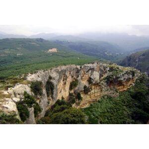Kedima Obrus biały z greckim wzorem 180x230cm