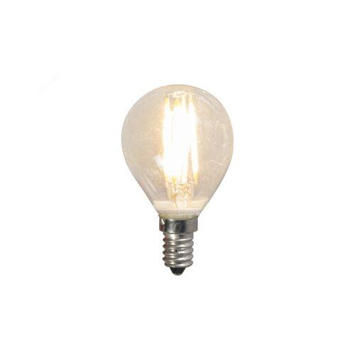 LUEDD Żarówka LED E14 filament G45 4W 2700K przezroczysta