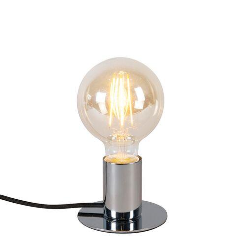 QAZQA Nowoczesna lampa stołowa chrom - Facil