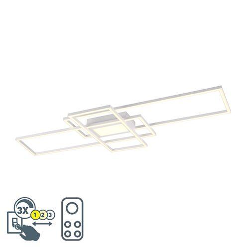 Trio Leuchten Lampa sufitowa biała w tym LED, pilot zdalnego sterowania 3-stopniowy ściemnialny - Riha
