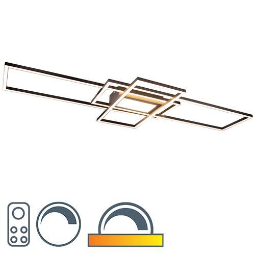 Trio Leuchten Lampa sufitowa antracytowa z diodami LED, pilot zdalnego sterowania - Riha