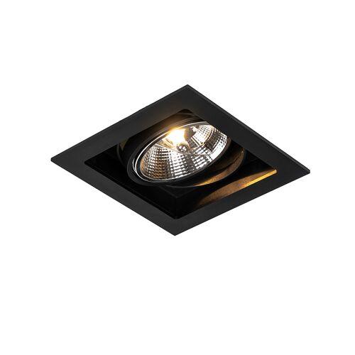 QAZQA Nowoczesna oprawa wpuszczana czarna 18 cm regulowana - Artemis 111