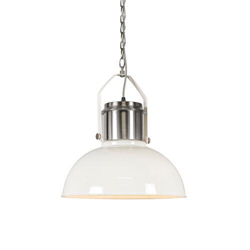 QAZQA Przemysłowa lampa wisząca biała - Przemysłowa 37