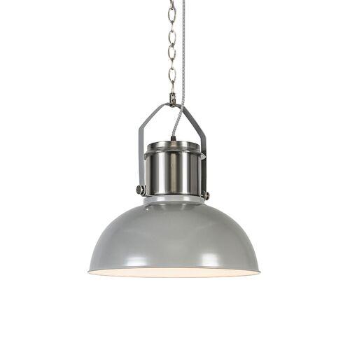 QAZQA Przemysłowa lampa wisząca szara - Przemysłowa 37