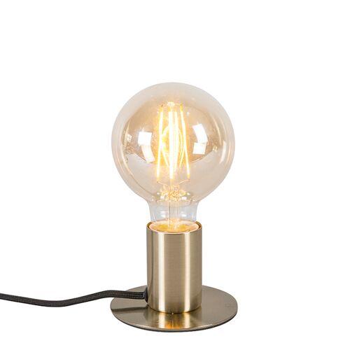 QAZQA Nowoczesna lampa stołowa złota - Facil