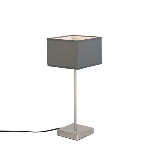 QAZQA Nowoczesna lampa stołowa szara - VT