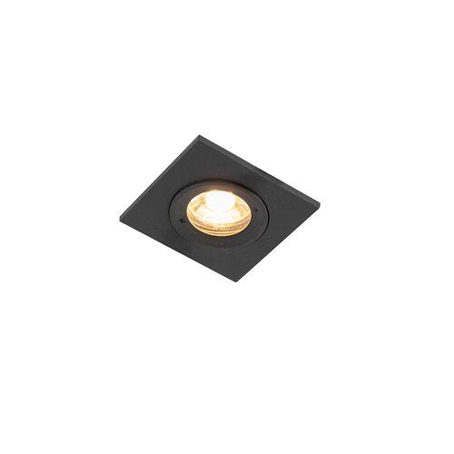QAZQA Nowoczesna oprawa wpuszczana czarna IP54 - Xena Square
