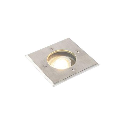 QAZQA Nowoczesna stal szlifowana 13,5 cm IP67 - Basic Square
