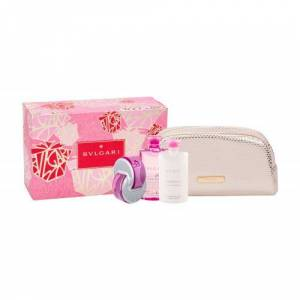 Bvlgari Omnia Pink Sapphire zestaw Edt 65 ml + Mleczko do ciała 75 ml + Kosmetyczka dla kobiet
