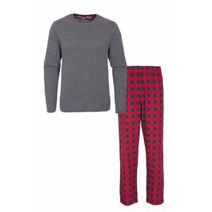 Mountain Warehouse Flanelowa piżama męska - Red L