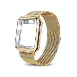 Bransoleta etui Alogy 2w1 pasek stalowy do Apple Watch 4 42mm złota