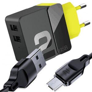 Ładowarka sieciowa Rock Sugar Pro 2x USB 2.4A 12W EU + Kabel Z15 micro USB