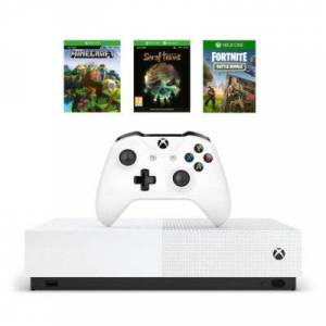Microsoft Konsola XBOX ONE S 1TB All-Digital Edition + Sea Of Thieves + Minecraft + Fortnite: Battle Royale