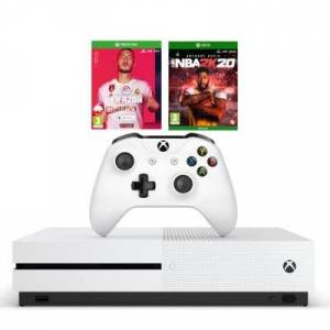 Microsoft Konsola XBOX ONE S 1TB + NBA 2K20 + FIFA 20