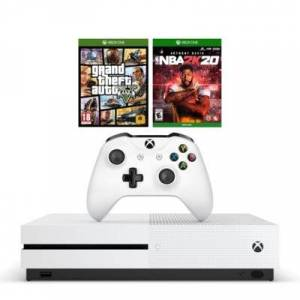 Microsoft Konsola XBOX ONE S 1TB + NBA 2K20 + GTA V