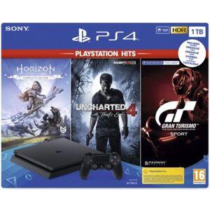 Sony Konsola PlayStation 4 Slim 1TB + Gran Turismo Sport + Uncharted 4 + Horizon Zero Dawn