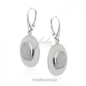 ankabizuteria.pl  Kolczyki srebrne z kamieniem księżycowym duże