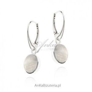ankabizuteria.pl  Kolczyki srebrne z kamieniem księżycowym - blue moon rozm. m