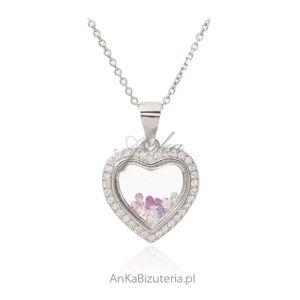 ankabizuteria.pl  Srebrna zawieszka  serce   z cyrkoniami i kryształkami swarovski