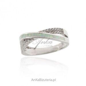 ankabizuteria.pl  Pierścionek srebrny z białym opalem