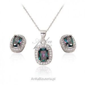 ankabizuteria.pl  Biżuteria srebrna komplet z mystic topazem i cyrkoniami