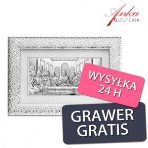 ankabizuteria.pl  Obraz ostatnia wieczerza w srebrnej ramie 72 cm/47 cm