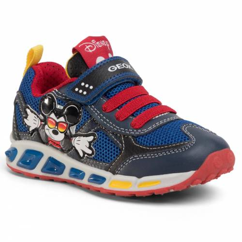 Geox Sneakersy GEOX - J Shuttle B. A J0294A 01454 C0735 M Navy/Red