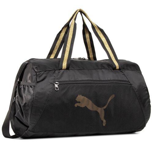 Puma Torba PUMA - At Ess Barrel Bag 77365 05 Black/Bright Gold