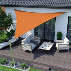 Jarolift Żagiel przeciwsłoneczny trójkątny, Pomarańczowy, 5 x 5 x 5 m, Z tkaniny oddychającej