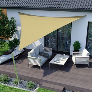 Jarolift Żagiel przeciwsłoneczny trójkątny, Beżowy, 5,1 x 3,6 x 3,6 m, Z tkaniny wodoodpornej