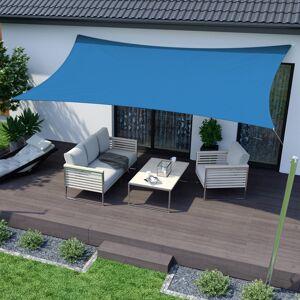 Jarolift Żagiel przeciwsłoneczny, prostokątny, z tkaniny wodoodpornej, lazurowy, rozmiar 4m x 2m