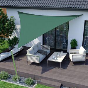 Jarolift Żagiel przeciwsłoneczny, trójkątny, z tkaniny oddychającej, zielony, rozmiar 3,6m x 3,6m x 3,6m