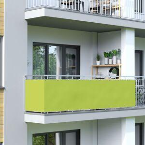 Jarolift Osłona balkonowa, jasnozielona, 90 x 500 cm, wodoodporna