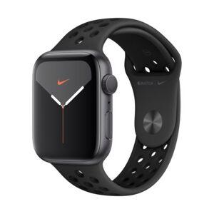 Apple Watch 5 Nike+ 44mm (Gwiezdna szarość z opaską sportową w kolorze czarnym)