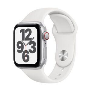 Apple Watch SE Cellular 40mm (Srebrny z opaską sportową w kolorze białym)