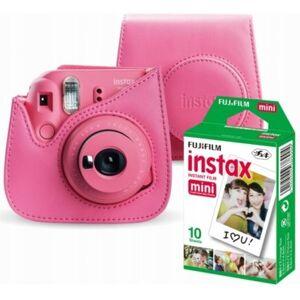 Fujifilm Aparat FUJIFILM Instax Mini 9 Różowy + Pokrowiec + Wkład 10 szt. + Klamerki