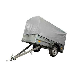 UNITRAILER Przyczepka samochodowa 200x106 cm 750 kg DMC lekka z plandeką i stelażem Garden Trailer 200 niehamowana