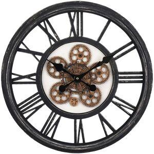 Zegar ścienny wiszący okrągły INDUSTRIALNY 50 cm ruchomy mechanizm